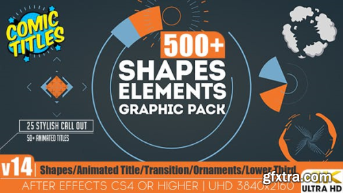 Videohive Shapes & Elements Graphic Pack V14 12002012