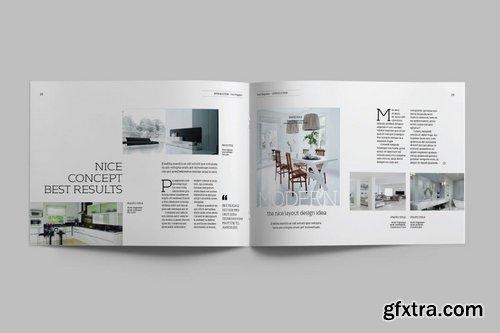 Interior Design A5 Landscape Magazine Template Gfxtra