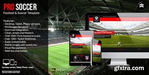 ThemeForest - Pro Soccer v1.0 - Football & Soccer Club Muse Template - 11869436
