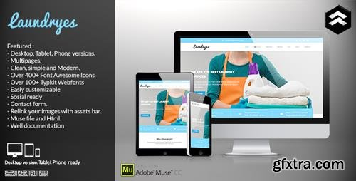 ThemeForest - Laundryes - Laundry Business Muse Template (Update: 10 June 15) - 11510459