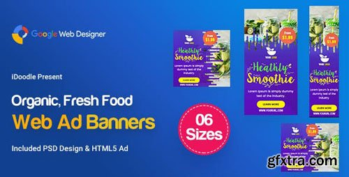 CodeCanyon - C49 - Organic, Fresh Food Banners GWD & PSD - 23894947