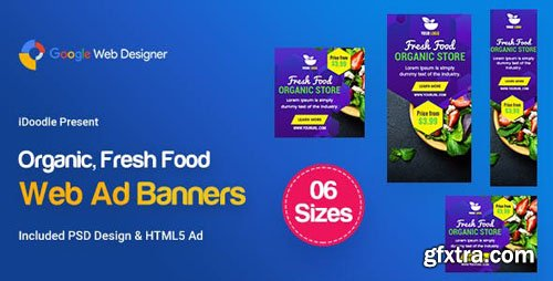 CodeCanyon - C48 - Organic, Fresh Food Banners GWD & PSD - 23888112