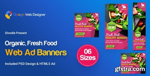 CodeCanyon - C47 - Organic, Fresh Food Banners GWD & PSD - 23888110