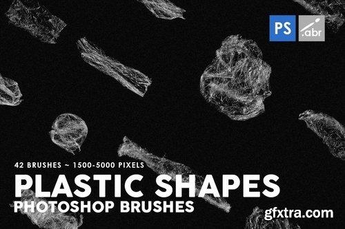 42 Plastic Shapes Photoshop Stamp Brushes
