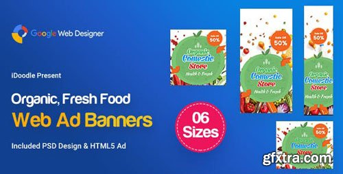 CodeCanyon - C45 - Organic, Fresh Food Banners GWD & PSD - 23878942