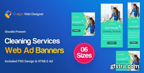 CodeCanyon - C42 - Cleaning Services Banners GWD & PSD - 23878884