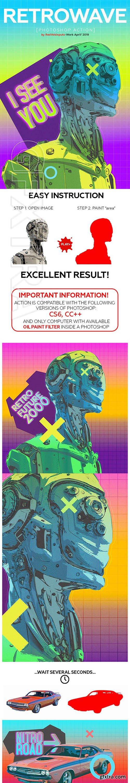 GraphicRiver - Retrowave Photoshop Action 23703577