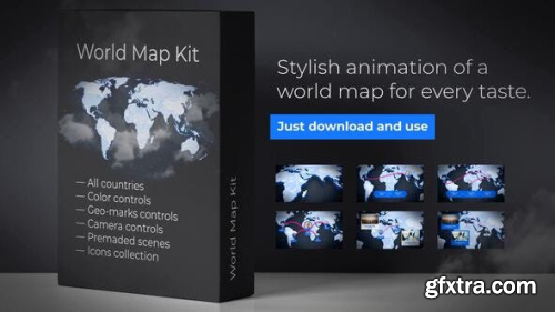 VideoHive World-Map Presentation 23895927