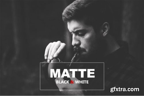 Matte Black And White Photoshop Action