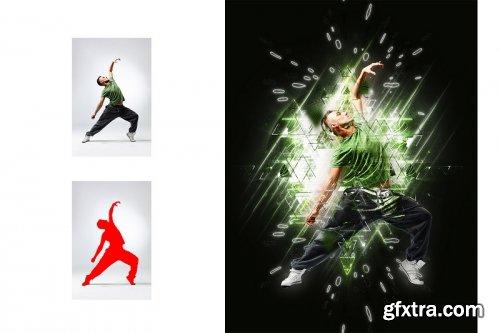Triangle Art Photoshop Action