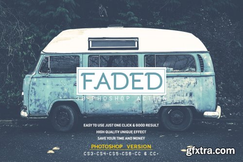 30 Faded Photoshop Action