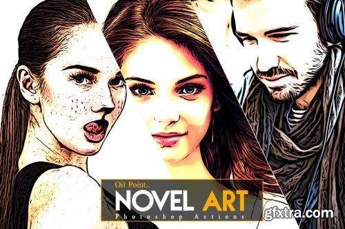 Novel Art Photoshop Action