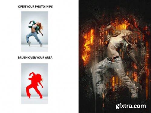 Rising Photoshop Action