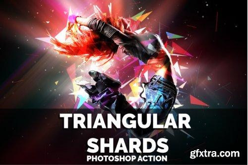 Triangular Shards Photoshop Action