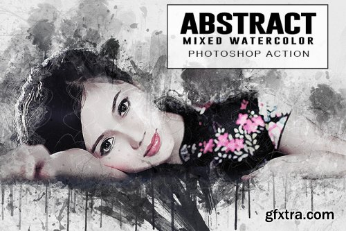 Abstract Mixed Watercolor Photoshop Action