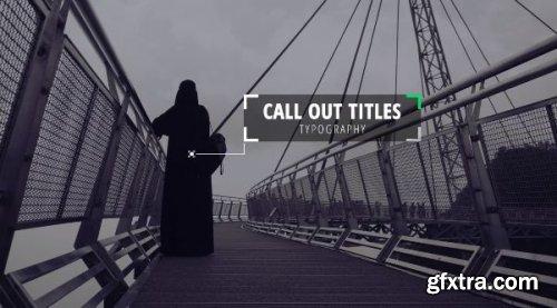 Modern Callout Titles 232481