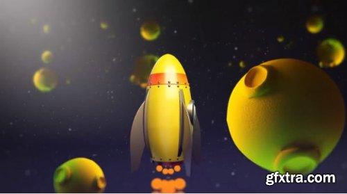 Cartoon Rocket Logo V2 227985