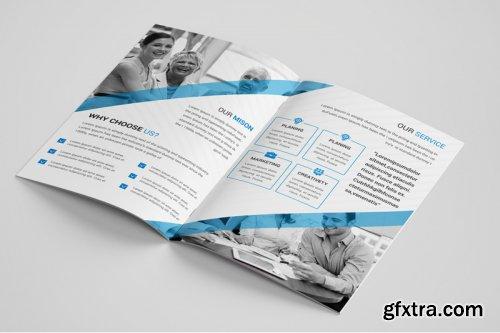 Corporate bi Fold Brochure template