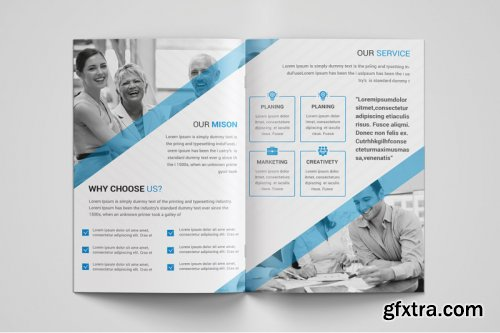 Corporate bi Fold Brochure template