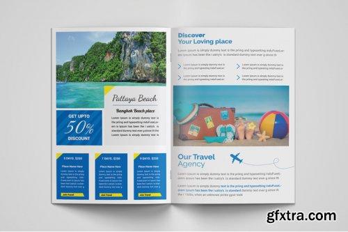 Travel Bi Fold Brochure template