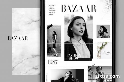 CreativeMarket - Bazaar - Instagram puzzle 3784936
