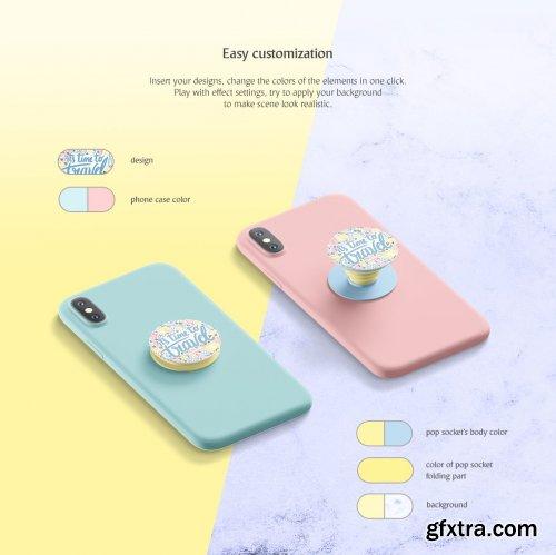CreativeMarket - Pop Socket Mockup 3764466