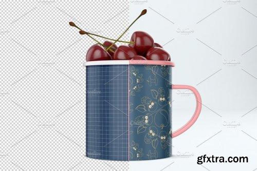 CreativeMarket - Enamel mug mockup. PSD mockup 3789724