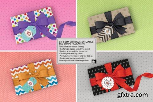 CreativeMarket - Gift Box Packaging Mockup 3733927