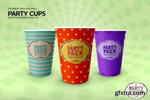 CreativeMarket - Party Cups Mockup 3728565