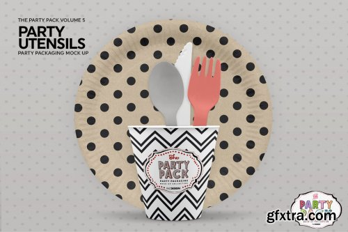 CreativeMarket - Party Plates and Utensils Mockup 3733931