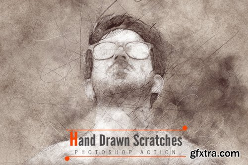 Hand Drawn Scratches Photoshop Actions