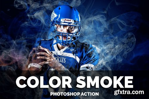Color Smoke Photoshop Action