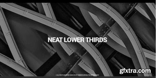 Neat Lower Thirds - Premiere Pro Templates 238441