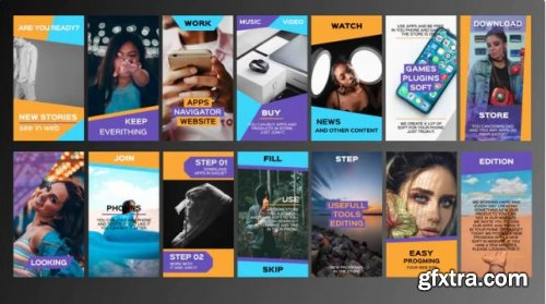 Stylish Instagram Stories - Premiere Pro Templates 239438
