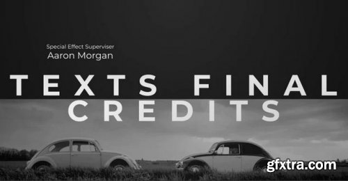 Texts Final Credits - Premiere Pro Templates 239044
