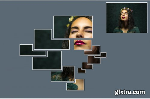 Vertical Panels Portrait V6 Photoshop Action
