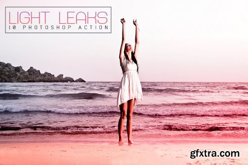10 Light Leaks Photoshop Actions