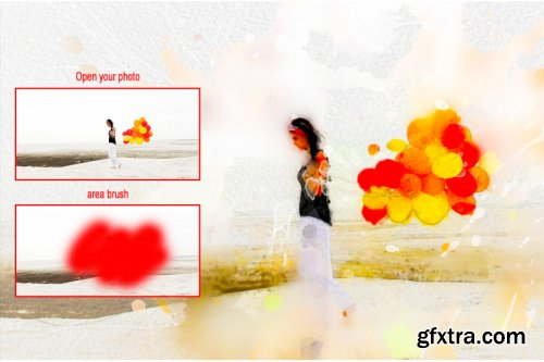 Pro Watercolor Painting Photoshop Action