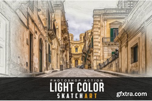 Light Color Skatch Art Action
