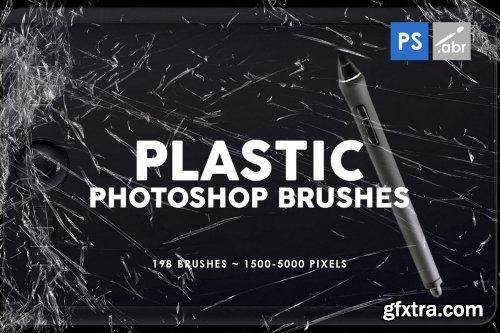 CreativeMarket - 198 Plastic Photoshop Brushes 3814352