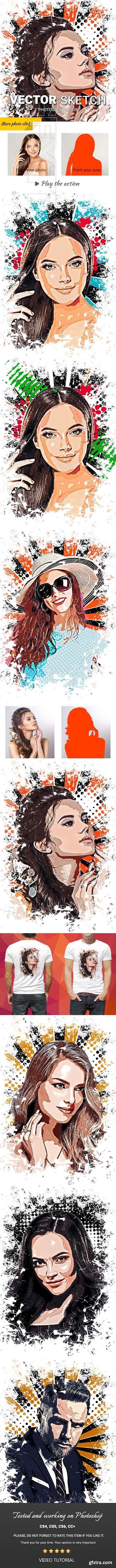 GraphicRiver - Vector Sketch Photoshop Action 23761711