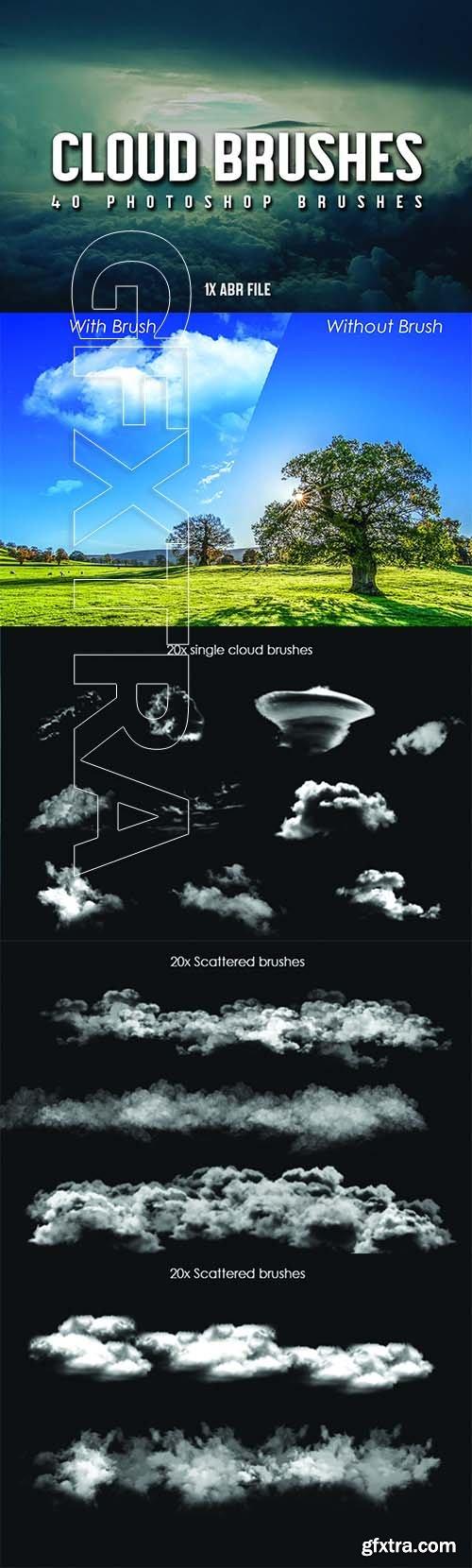 CreativeMarket - 40 Cloud Brushes for Photoshop 3799716