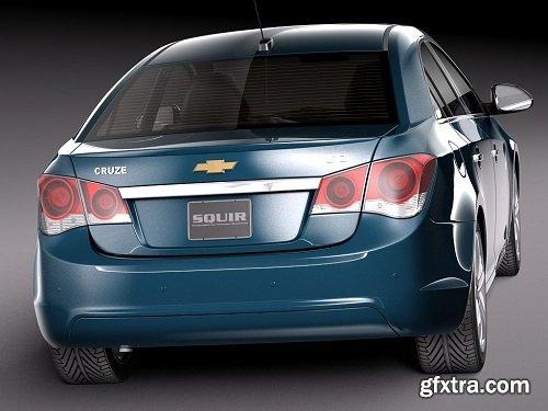Chevrolet Cruze Sedan 2015 3D Model