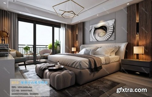3D66 2019 - Modern Bedroom Interior Scene 01