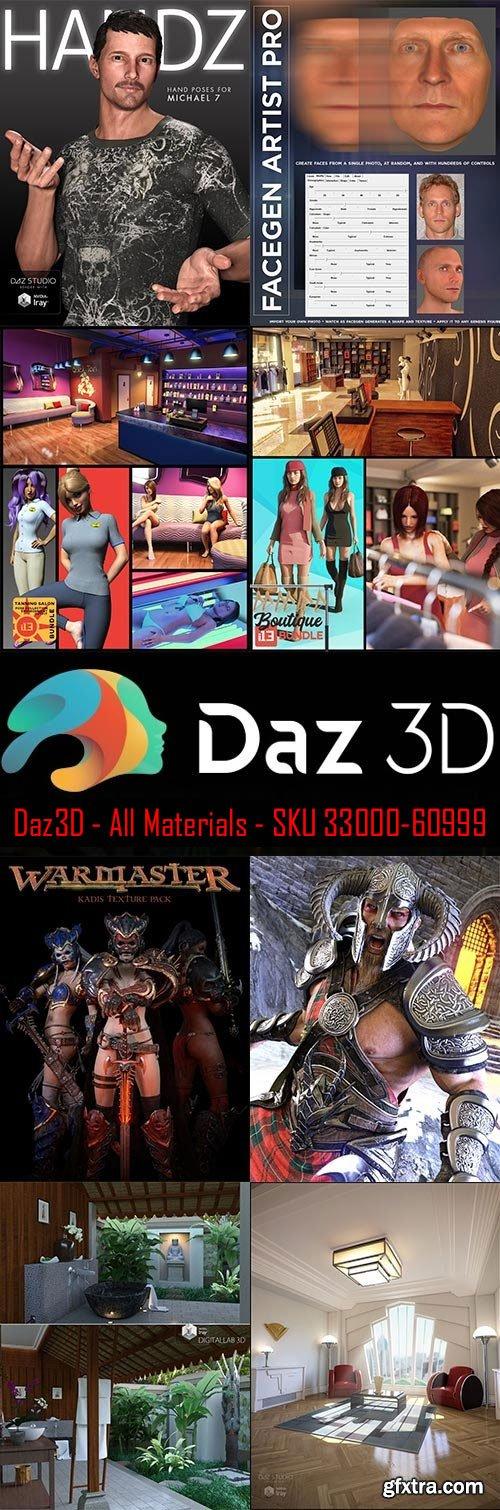 Daz3D - All Materials - SKU 33000-60999