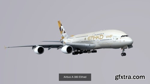 Cgtrader - Pack Airbus A-380 3D Model Collection