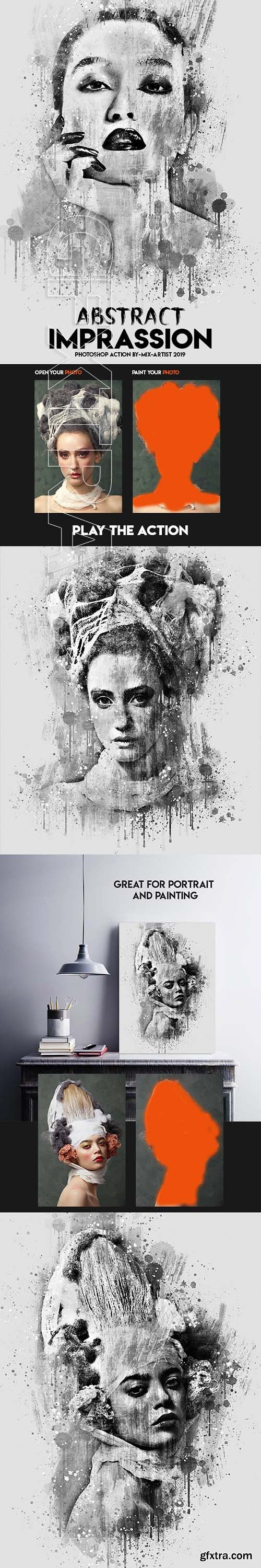 GraphicRiver - Abstract Imprassion Ink Photoshop Action 23752804