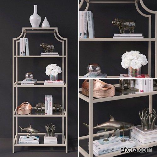 Decorative set on the author\'s shelf