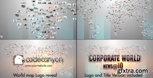 VideoHive World Map Video Image Logo 8565616