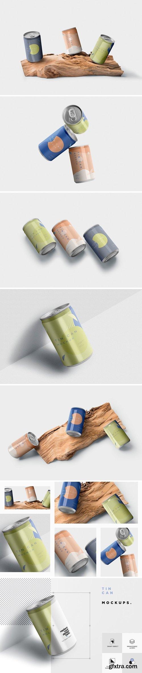 Tin Can Branding Mockups